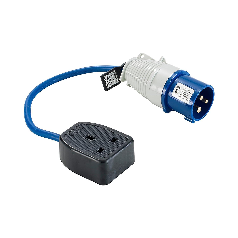 Defender E85300 16 A Plug to 13 A 240 V Socket 16 A to 13 A Fly Lead - Blue