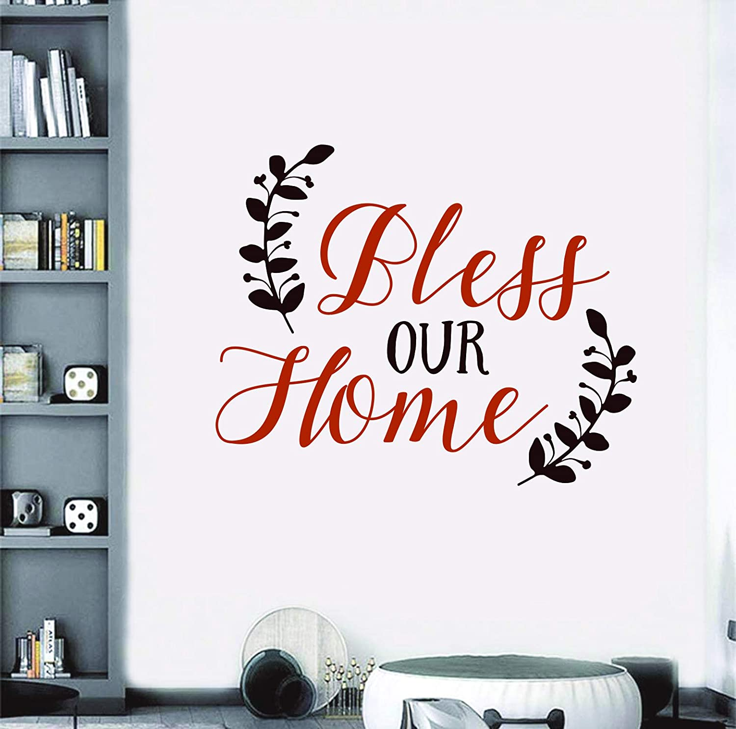 Bless Our Home - Inspirational Quote Motivational XL Decal Wall Removable Art DIY Sticker Peel and Stick Bless Our Home