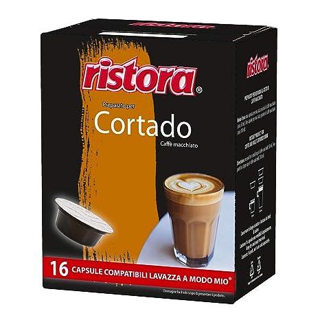 CAFÉ CORTADO RISTORA - 16 CÁPSULAS COMPATIBLES A MODO MIO 5.5g ...
