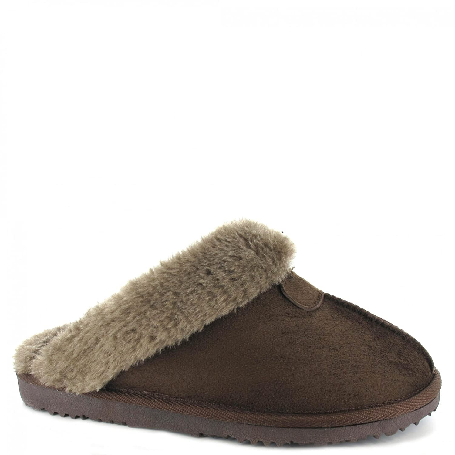 acac7e42e61de Ella Shoes JILL Ladies Mule Slippers Brown  Amazon.co.uk  Shoes   Bags