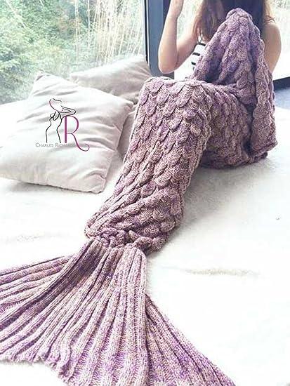 Amazoncom Cr Adult Mermaid Tail Blanket Crochet And Mermaid
