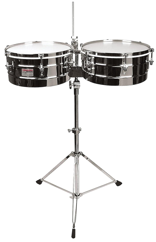 Rhythm Tech RT 5345 Timbales-Chrome w/Stand KMC Music Inc
