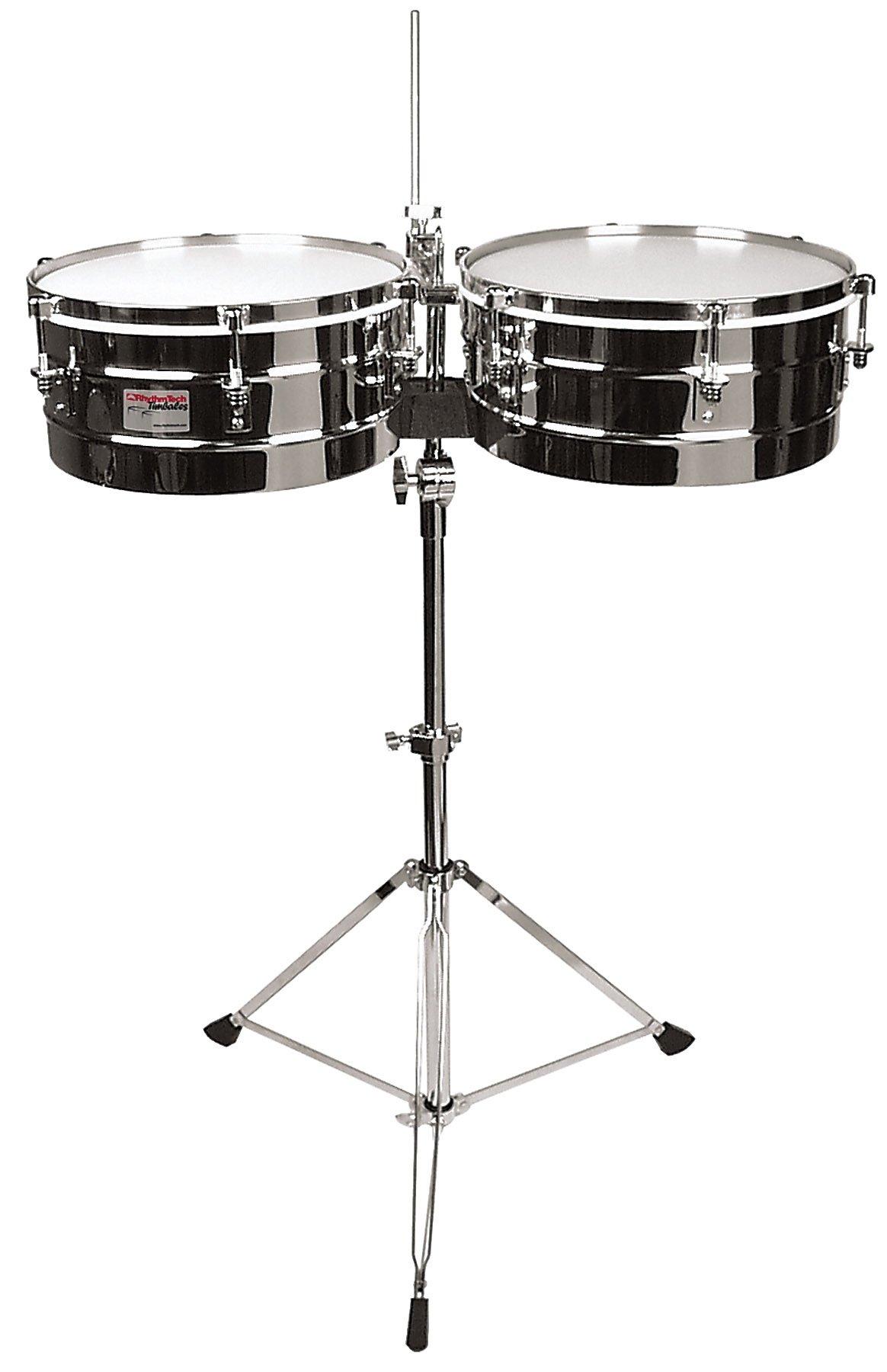 Rhythm Tech RT 5345 Timbales-Chrome w/Stand by Rhythm Tech