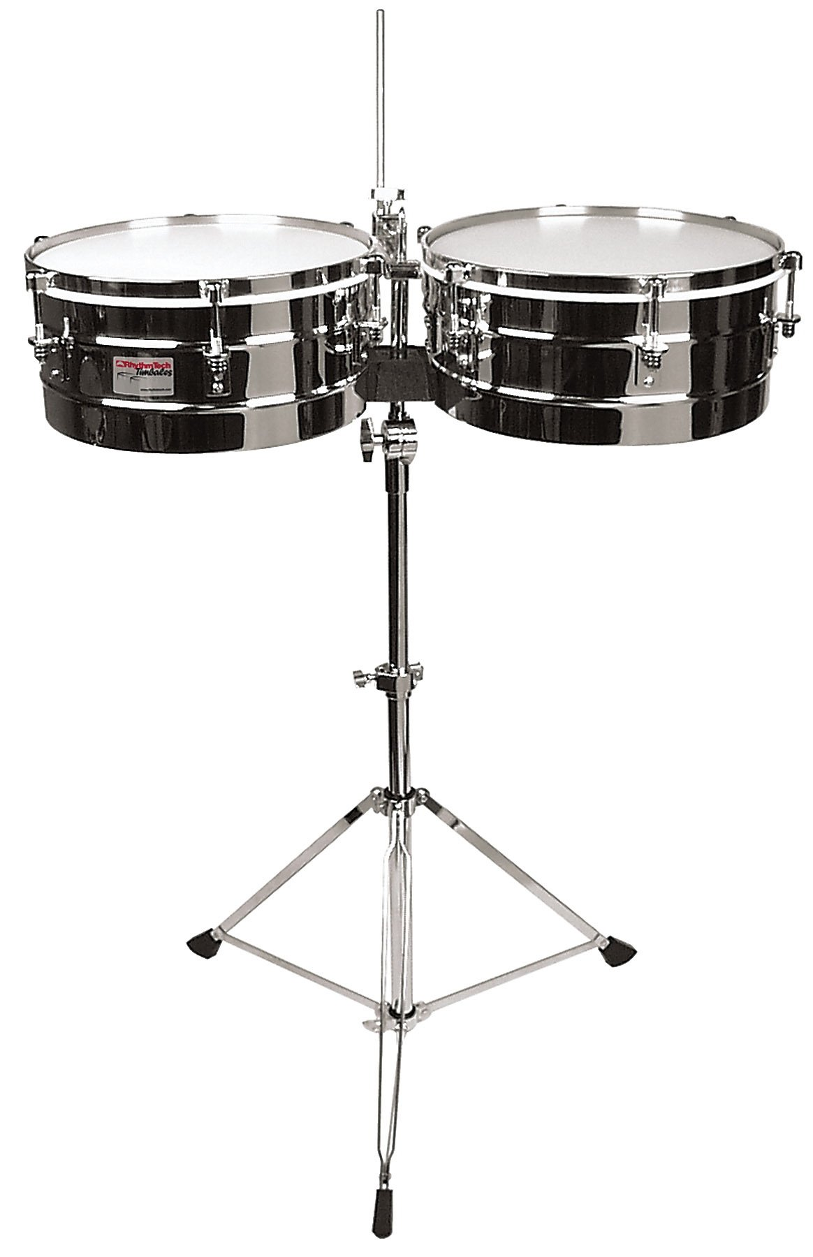Rhythm Tech RT 5345  Timbales-Chrome w/ Stand