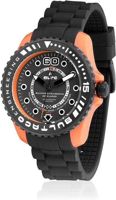 Bultaco Reloj Análogo clásico para Hombre de Miyota 2035 con Correa en Silicona BLPO45SCB1