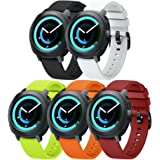 ANCOOL Compatible Gear Sport Band Replacement 20mm Silicone Watch Band Compatible Samsung Gear Sport/Galaxy Watch (42mm)/Ticwatch E/Ticwatch 2/Vivoactive 3 Watch