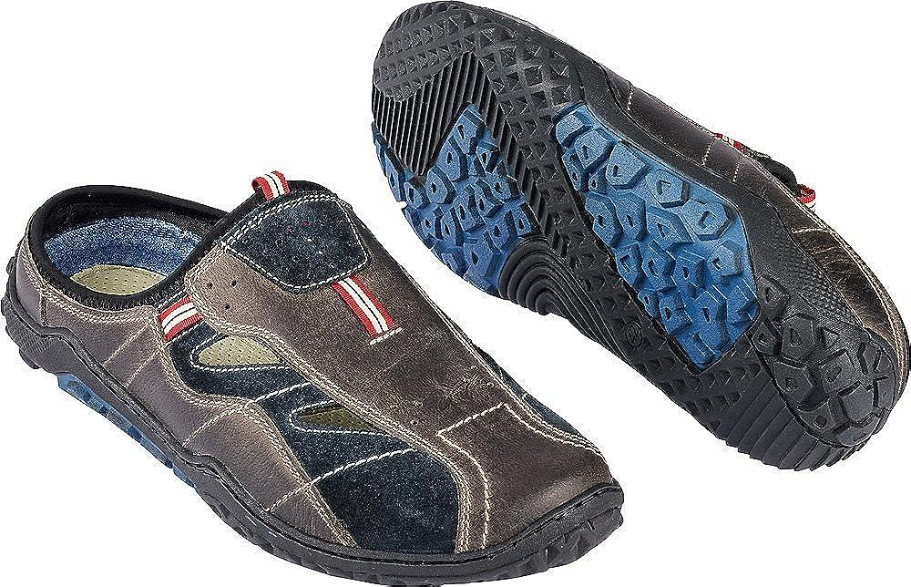 Nordcap Herren Trekkingpantoletten Braun, Robuste Sandale Aus Leder, Wander-Sandalette für Männer, Outdoor Schuh, Gr. 40