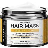 Bella Vita Organic Keratin Hair Mask Spa Cream For Frizzy, Dry & Damaged Hair With Coconut, Mango, Argan & Shea Butter, No Sulfates, No Parabens - 200ml