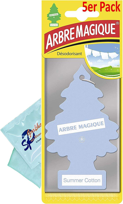 Wunder Baum 5 Stück Summer Cotton Lufterfrischer Duftbaum Wunderbaum Original Inkl 1 X Glasreinigungstuch Von Sp Großhandel Gratiszugabe Auto