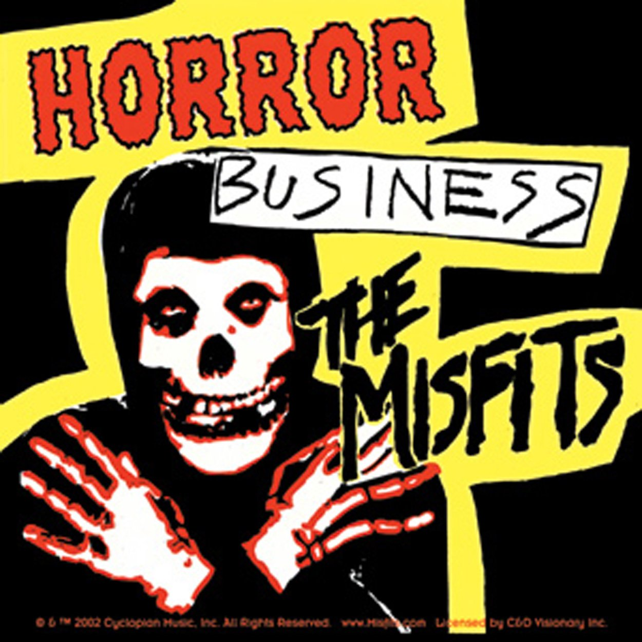 The MISFITS HORROR BUSINESS, Official Licensed Product, 7.7' x 4.2' - Sticker Pegatina DECAL 7.7 x 4.2 - Sticker Pegatina DECAL Officially Licensed & Trademarked Products S-0941