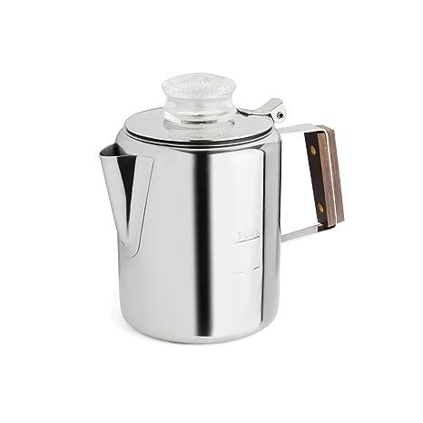 Rapid Brew hornillo, de acero inoxidable cafetera de filtro, 2 – 3 tazas