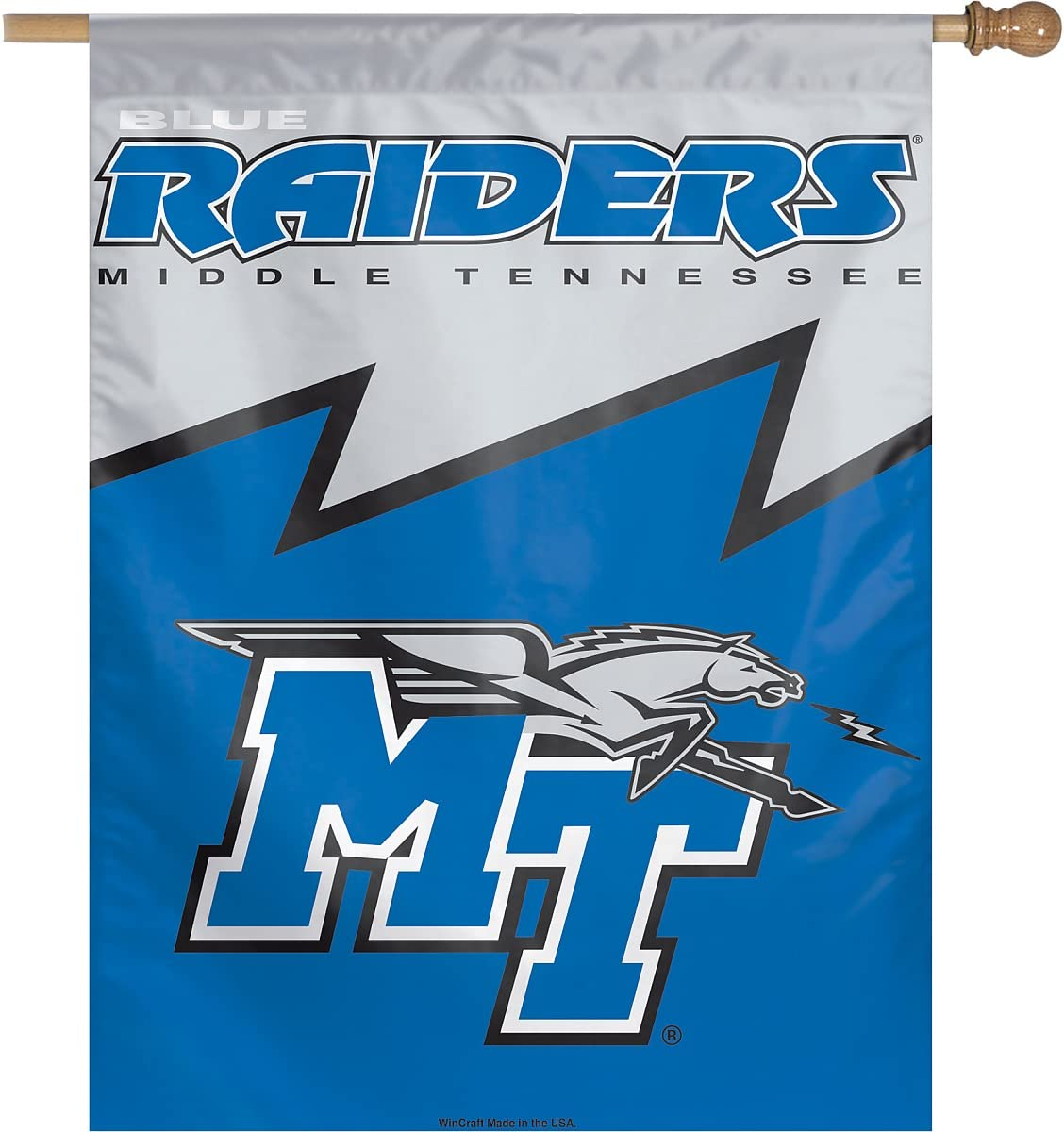 WinCraft NCAA Middle Tennessee State University Vertical Flag 27 x 37
