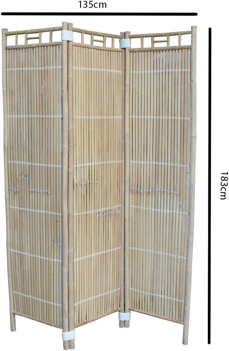 made2trade - Separador de ambientes (Madera de bambú, 135 x 183 cm): Amazon.es: Juguetes y juegos