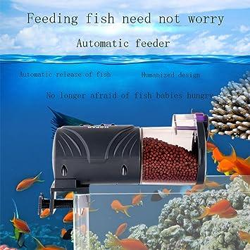 FF Alimentador Pecera Alta Capacidad Goldfish Koi Alimentador Acuario Inteligencia La Seguridad De Confianza,Black: Amazon.es: Hogar