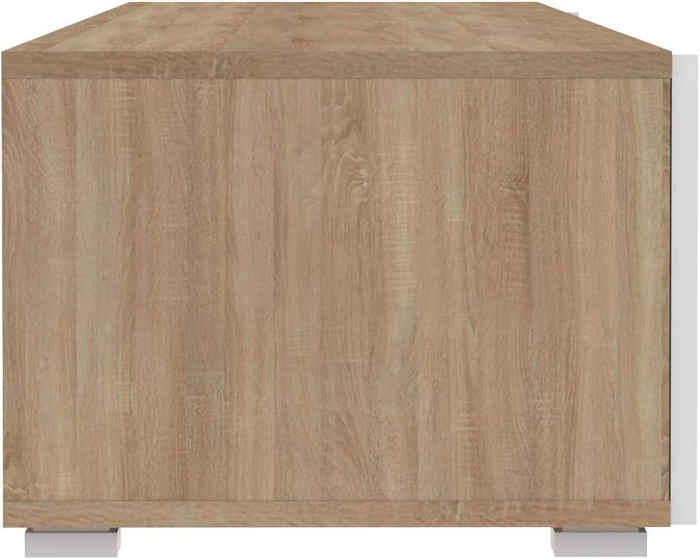 Brand 140 x 42 x 31 cm Black Concrete Effect Movian Lijoki 2-Door 1-Shelf TV stand