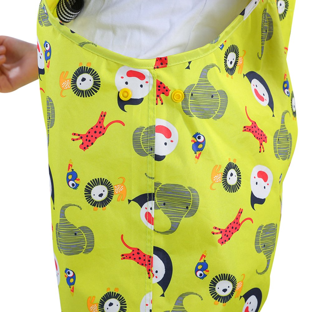 Kids Boys Girls Waterproof Suspender Rain Pants Unique Design Brillient Colors Rainwear