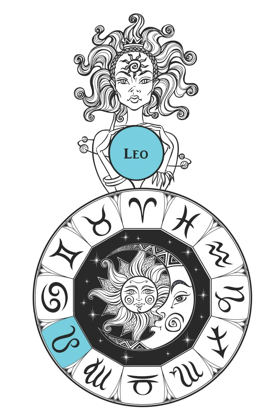 Amazon com: Leo: Notebook Journal Diary Zodiac Horoscope