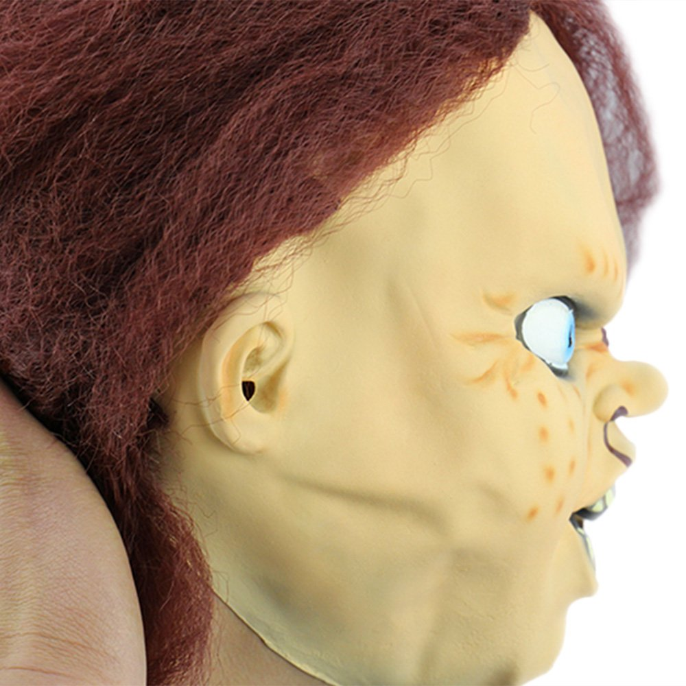 Horror Latex Mask for Child Play Chucky Action Figures Masquerade Halloween
