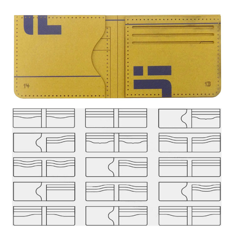 hanperal 16pcs clear acrylic wallet pattern stencil template set