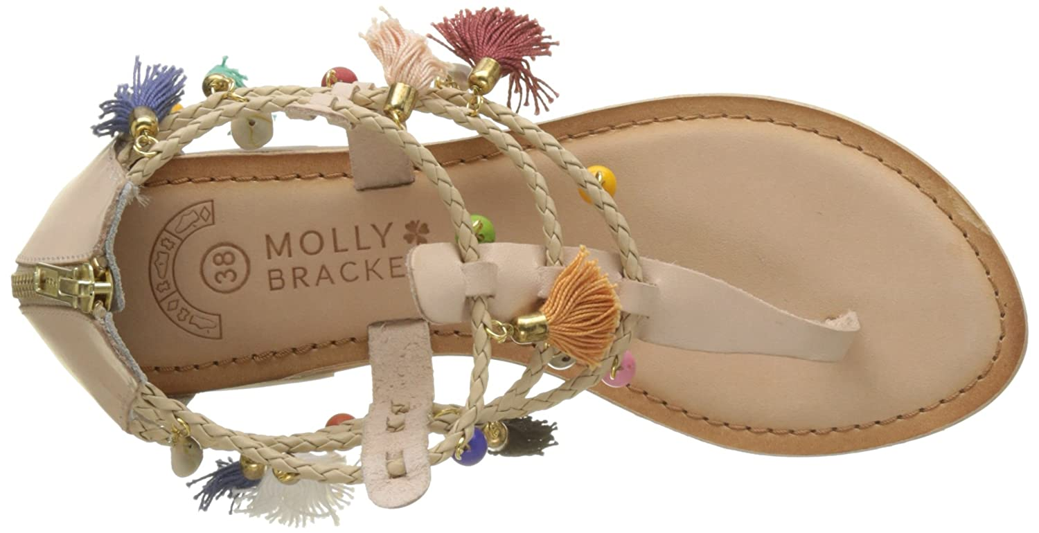 MOLLY BRACKEN Damen Coquillages Tassels Et Coquillages Damen Sandalen Mehrfarbig (Beige) 0b6824
