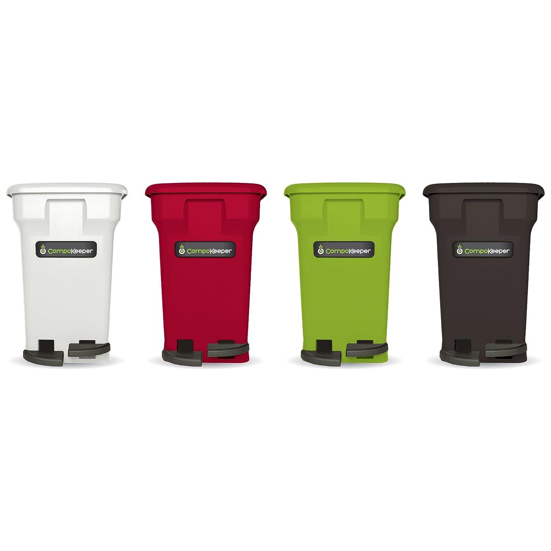 Amazon.com: CompoKeeper Kitchen Compost Bin, Green, 6 Gallon: Kitchen U0026  Dining