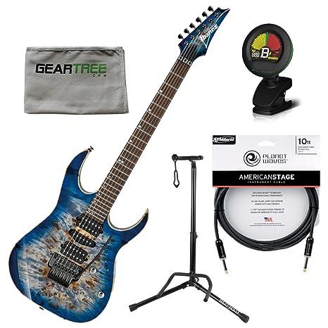 Ibanez rg1070pbzcbb RG – guitarra eléctrica azul celeste Burst W/funda, gamuza, soporte