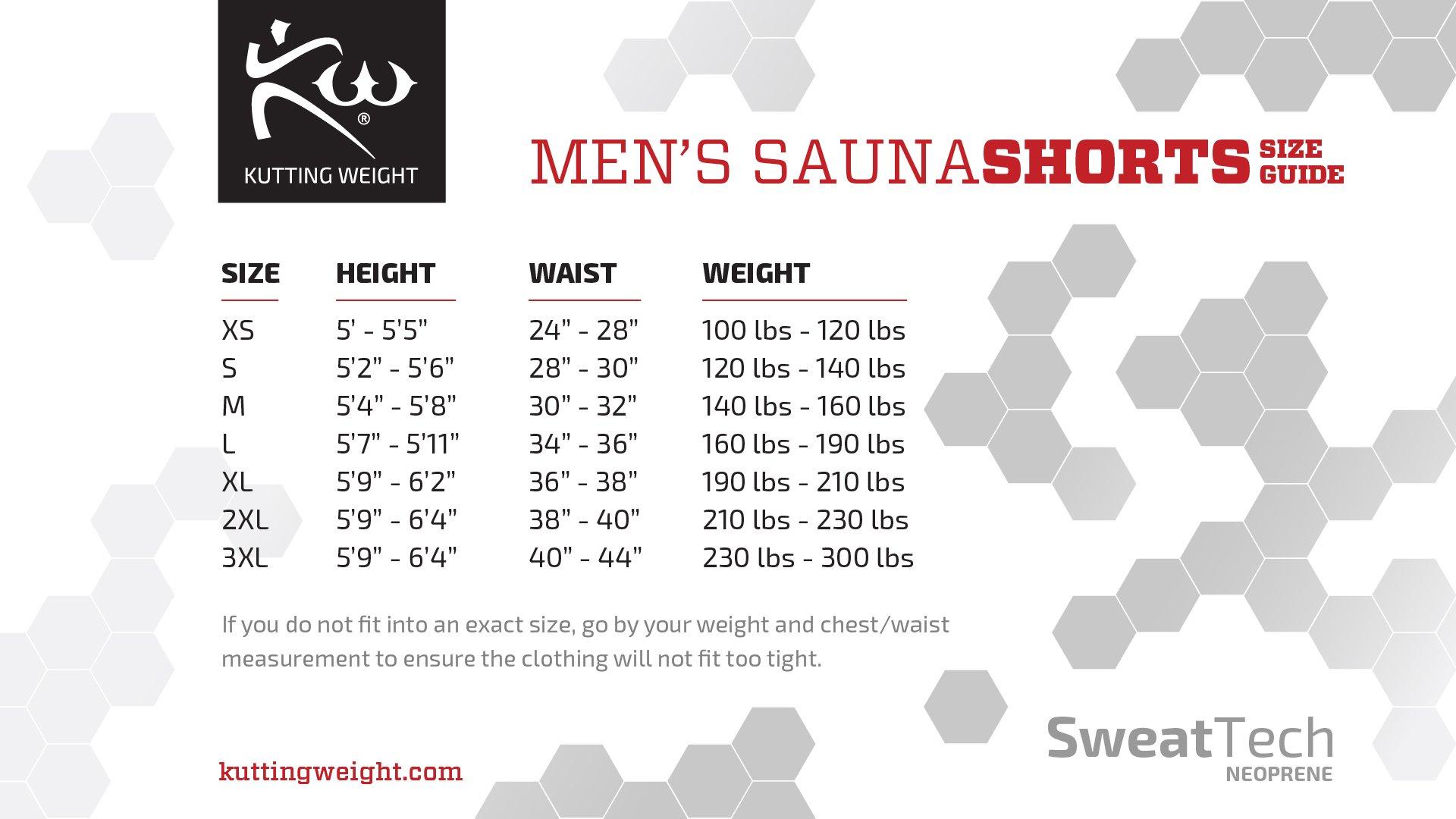 Mens- Kutting Weight (Cutting Weight) Neoprene Weight Loss Sauna Short