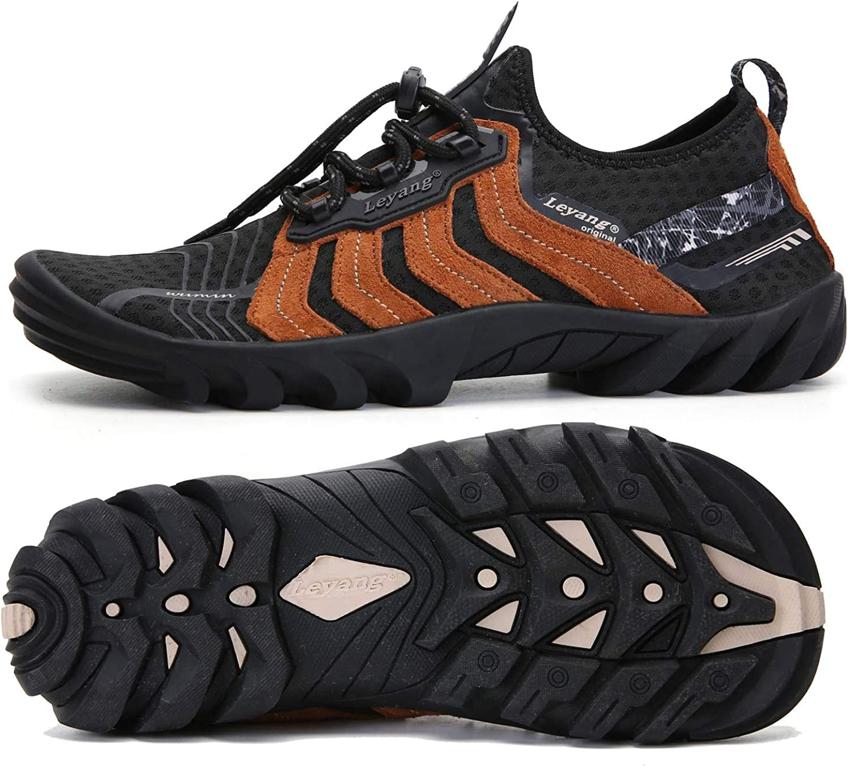 Leyang Chaussures de course légères et respirantes pour homme et femme Noir Marron 2