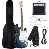 "Costzon 39"" Electric Guitar, Full Size Electric Guitar with Amp, Case and Accessories Pack Beginner Starter Package, Blue"