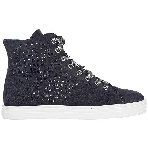7a0211570a9a0 Hogan Rebel Sneakers Alte Donna Blu  Amazon.it  Scarpe e borse
