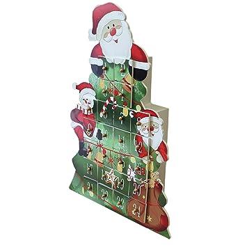 Weihnachtskalender Tannenbaum.Amazon De Weihnachtskalender Tannenbaum Selber Befüllen Holz