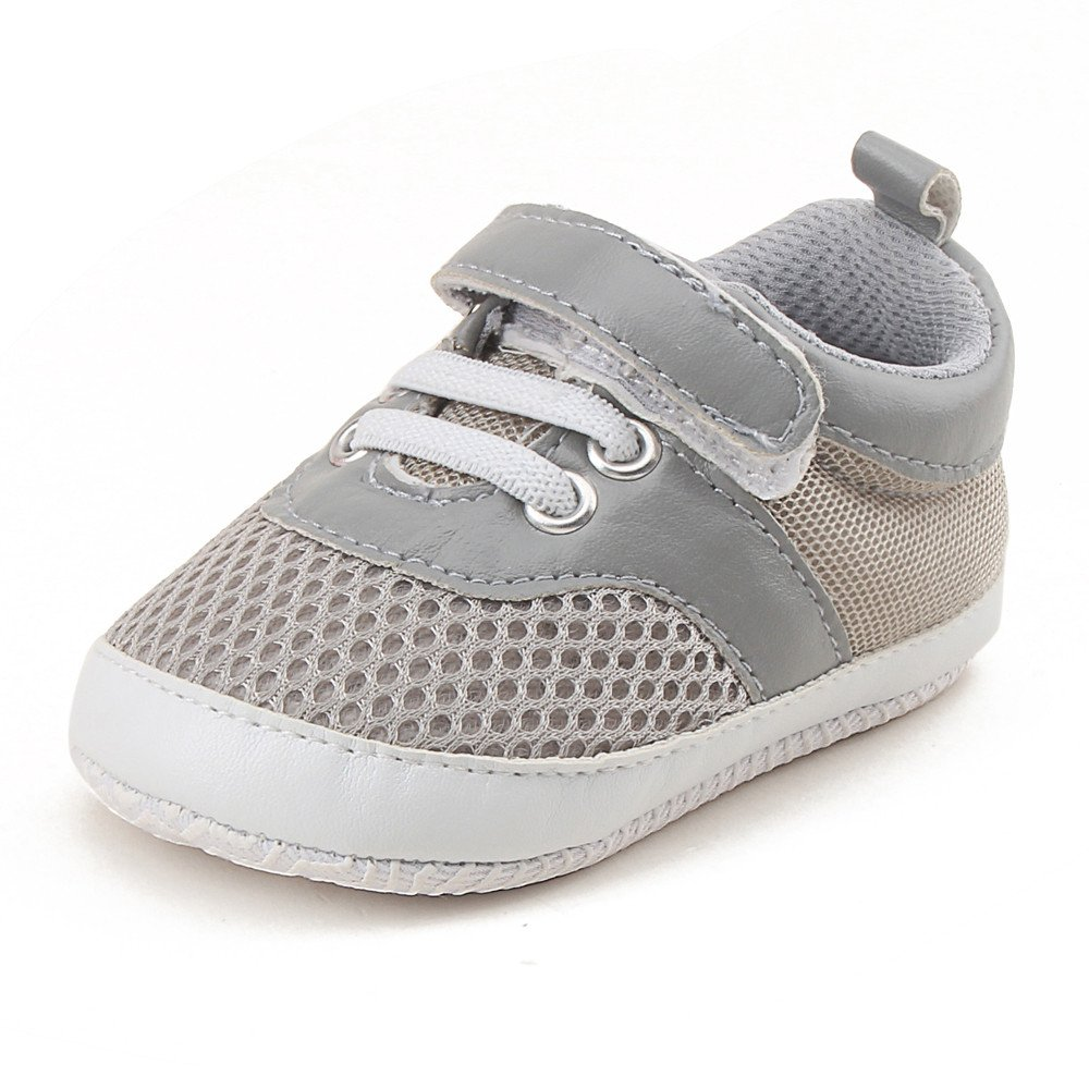 Lanhui Baby Sport Shoes Infant Toddler Shoes Boys Girls Mesh Soft Sole Sneaker Gray