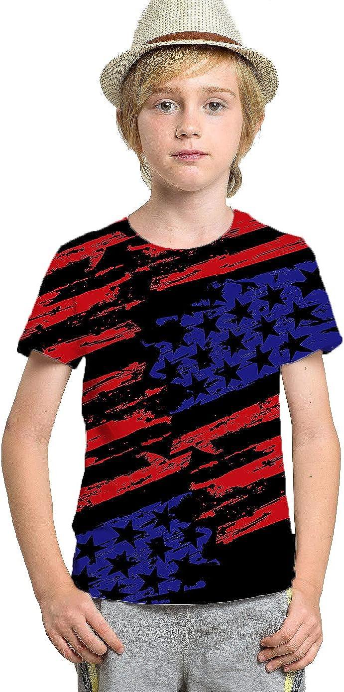 Yasswete Boys Girls T-Shirt 3D Realistic Graphic Crewneck Short Sleeve Printed Tee Shirt Tops for Kids Teens 6-16 Years