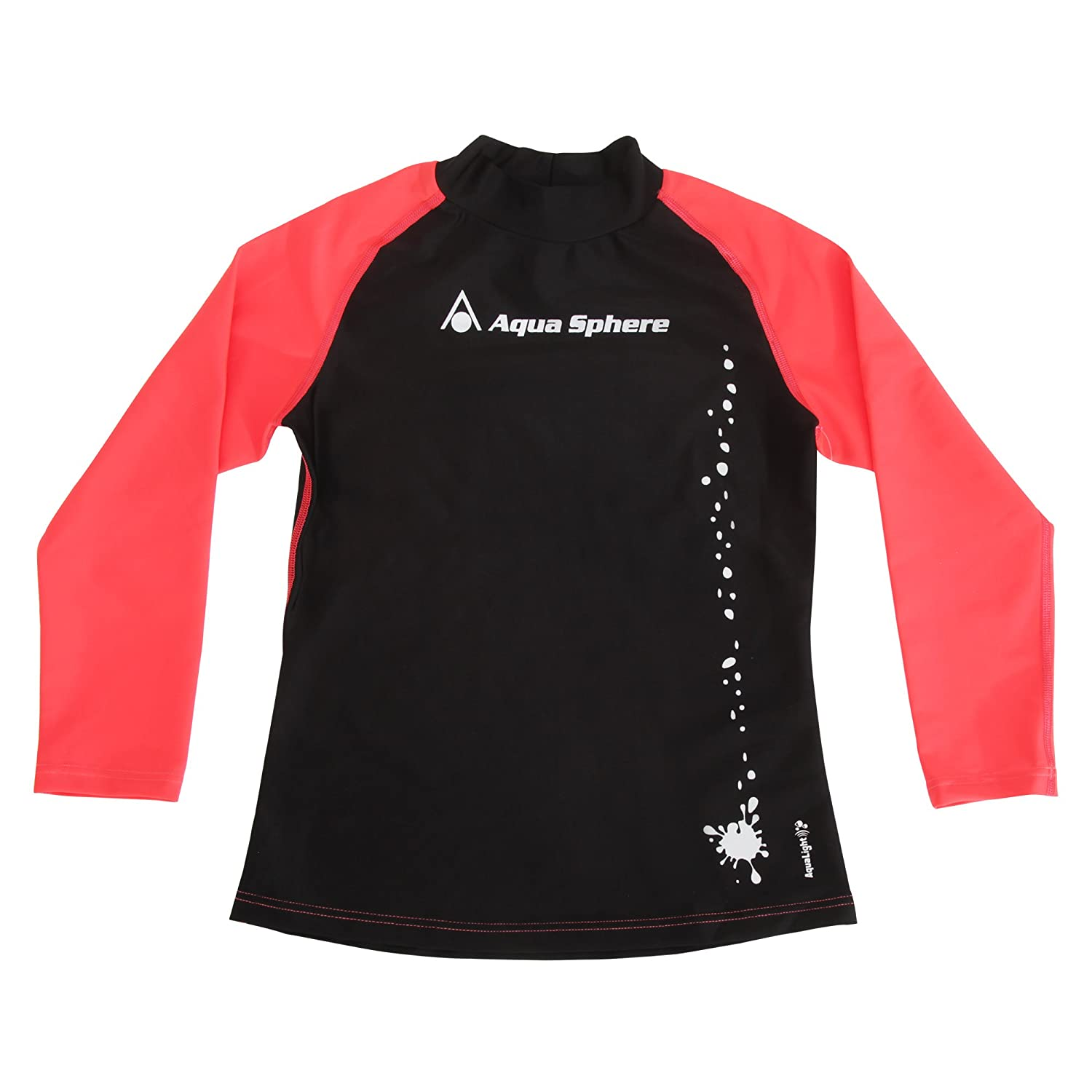 Aqua Sphere Childrens Girls Long Sleeve Swimming Rashguard Top