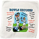 Bowls Excuses Microfibre Cleaning Cloth – Perfect for cleaning Bowls Balls and Jack – Makes an Ideal Gift