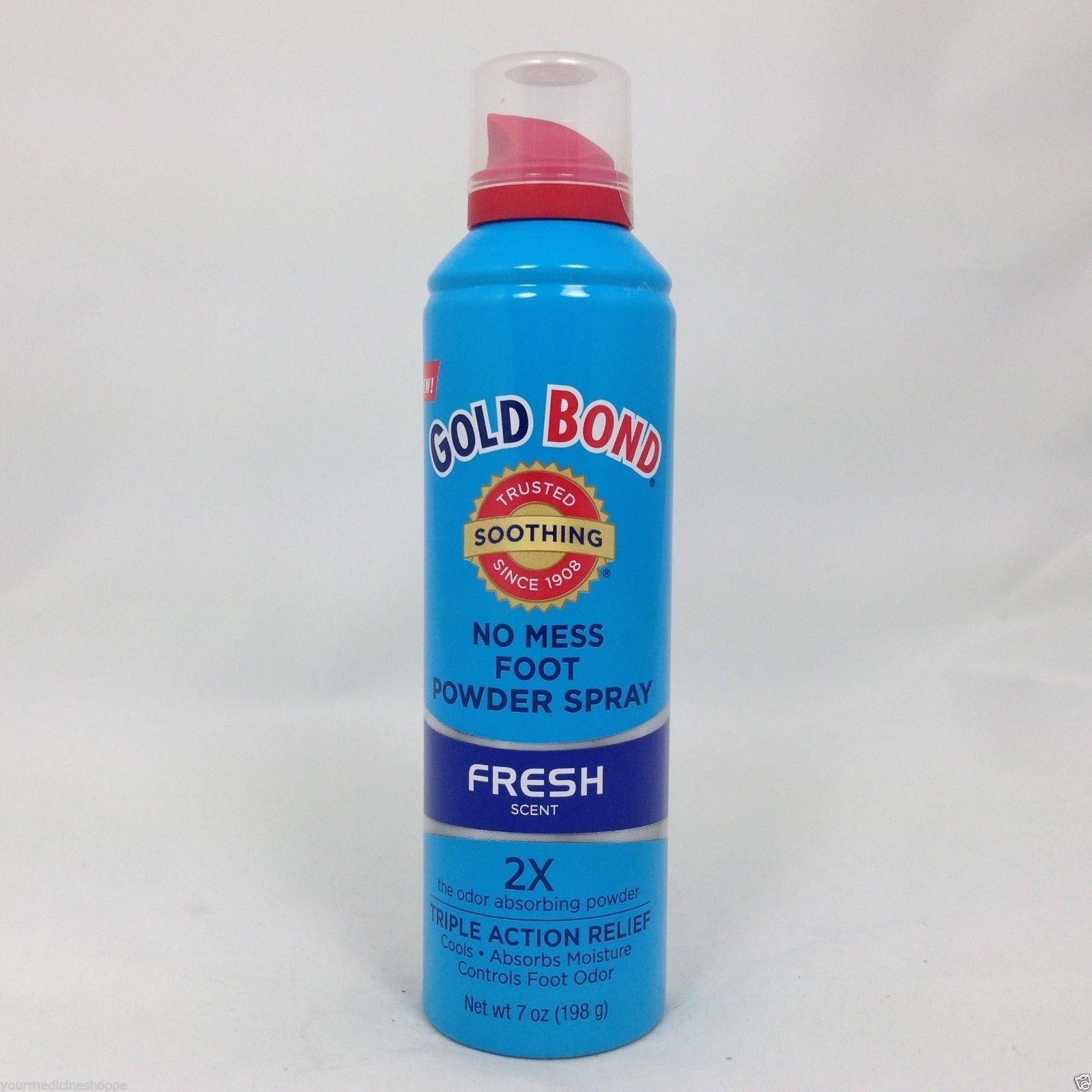 Gold Bond No Mess Foot Powder Spray, Fresh, 7 Ounce ( Pack of 8 )