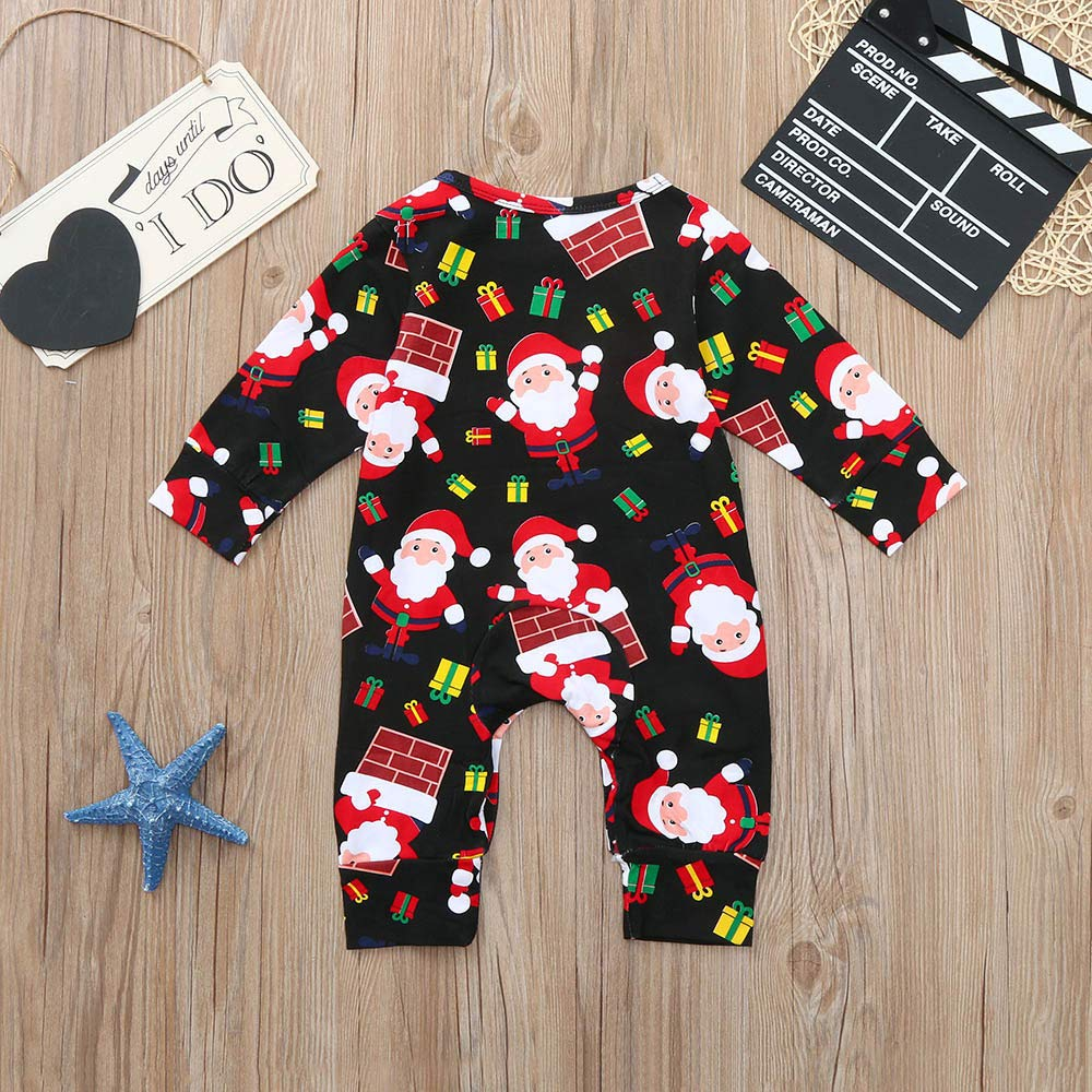 TOOPOOT Christmas Baby Jumpsuit,Infant Baby Boys Girls Christmas Xmas Cartoon Santa Print Romper Jumpsuit Outfits
