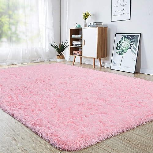 junovo Ultra Soft Area Rugs 5.3 x 7.5ft Fluffy Carpet