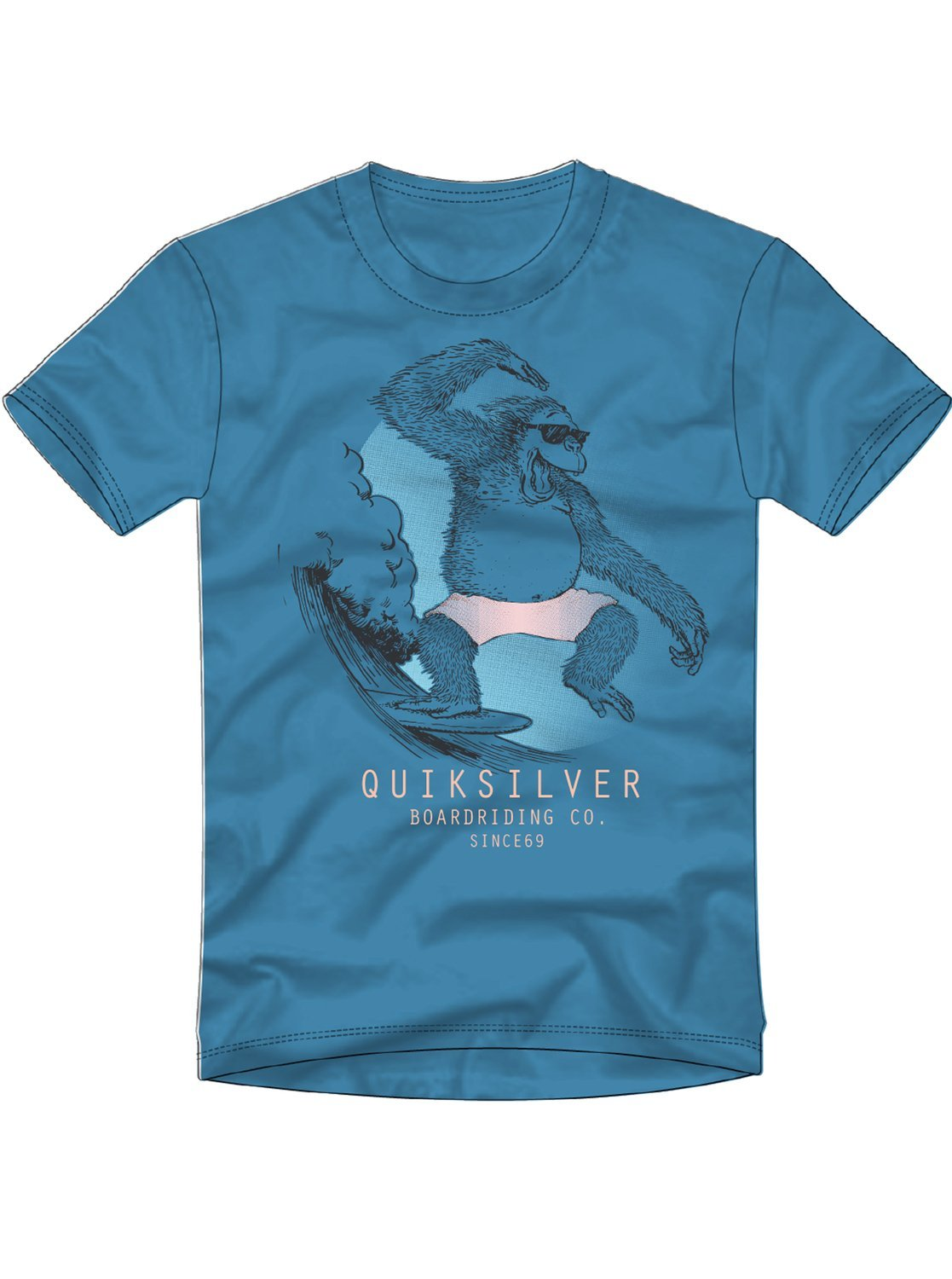 Quiksilver Little Boys' Freestyle Youth Tee Shirt, Cendre Blue, 5