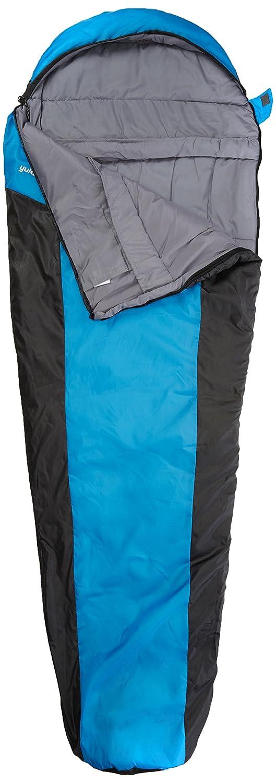 205x75//45 cm 10T Yukon 175L trekking just 1400 g up to -5/°C black//blue Single mummy sleeping bag