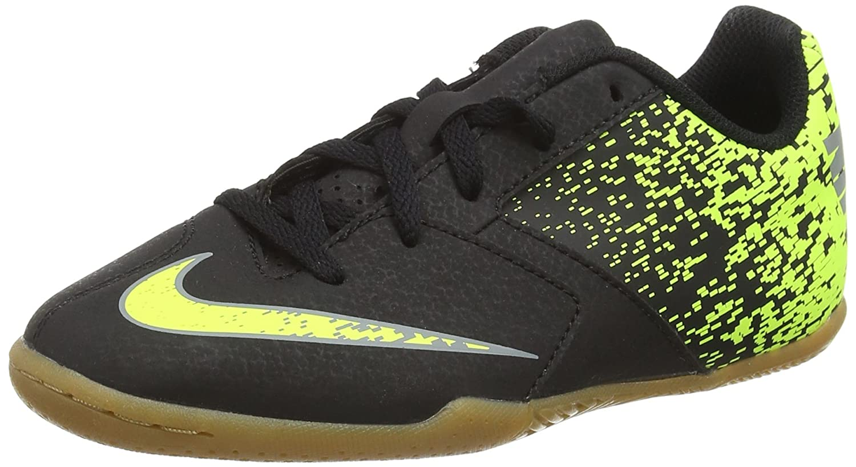 Amazon.com | Nike Kids Jr. Bombax (IC) Indoor-Competition Football Boot Black/Green | Football