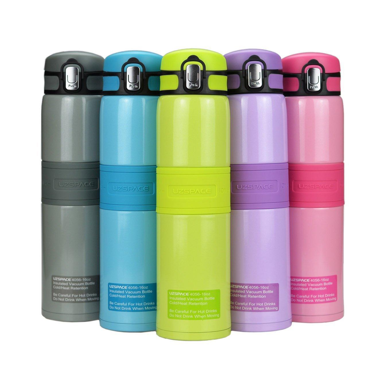 Super Wärmehaltung, Edelstahl Vakuum Isoliert Wasser Flasche Outdoor Sport, Yoga, Camping, Flip Cap rutschfest breit Auslauf BPA-frei, viele Farbe Option