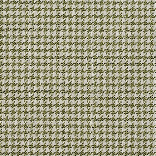 E858 Light Green and Off-White Classic Houndstooth Jacquard Upholstery Fabric By The Yard -