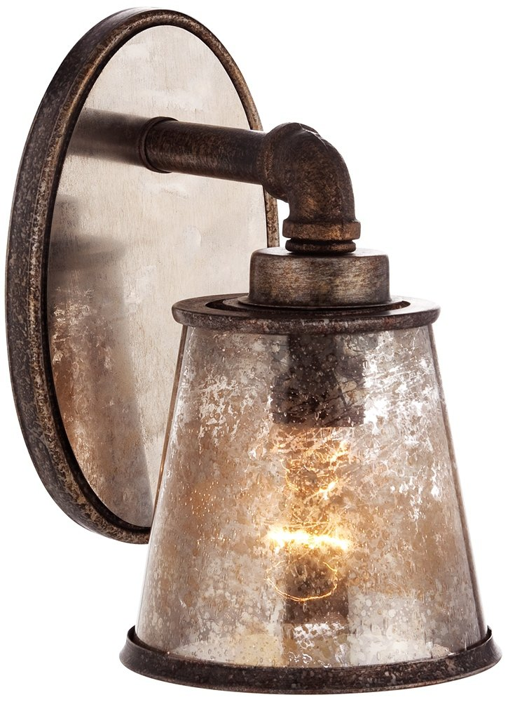 Fillmore 9'' High Industrial Rust Wall Sconce