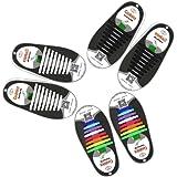 Mocent Lazy - Lacci per scarpe elastici in silicone, che non hanno bisogno di essere annodati; per scarpe da bambini e adulti, per corsa ed esercizio, facili da lavare, disponibili in vari colori