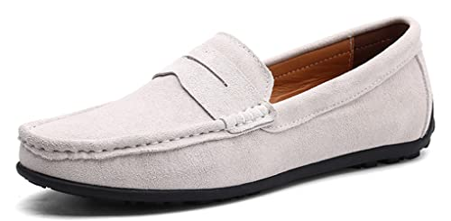 e98e74fa554 YZHYXS Men Loafers Suede Leather Slip On Driving Shoes