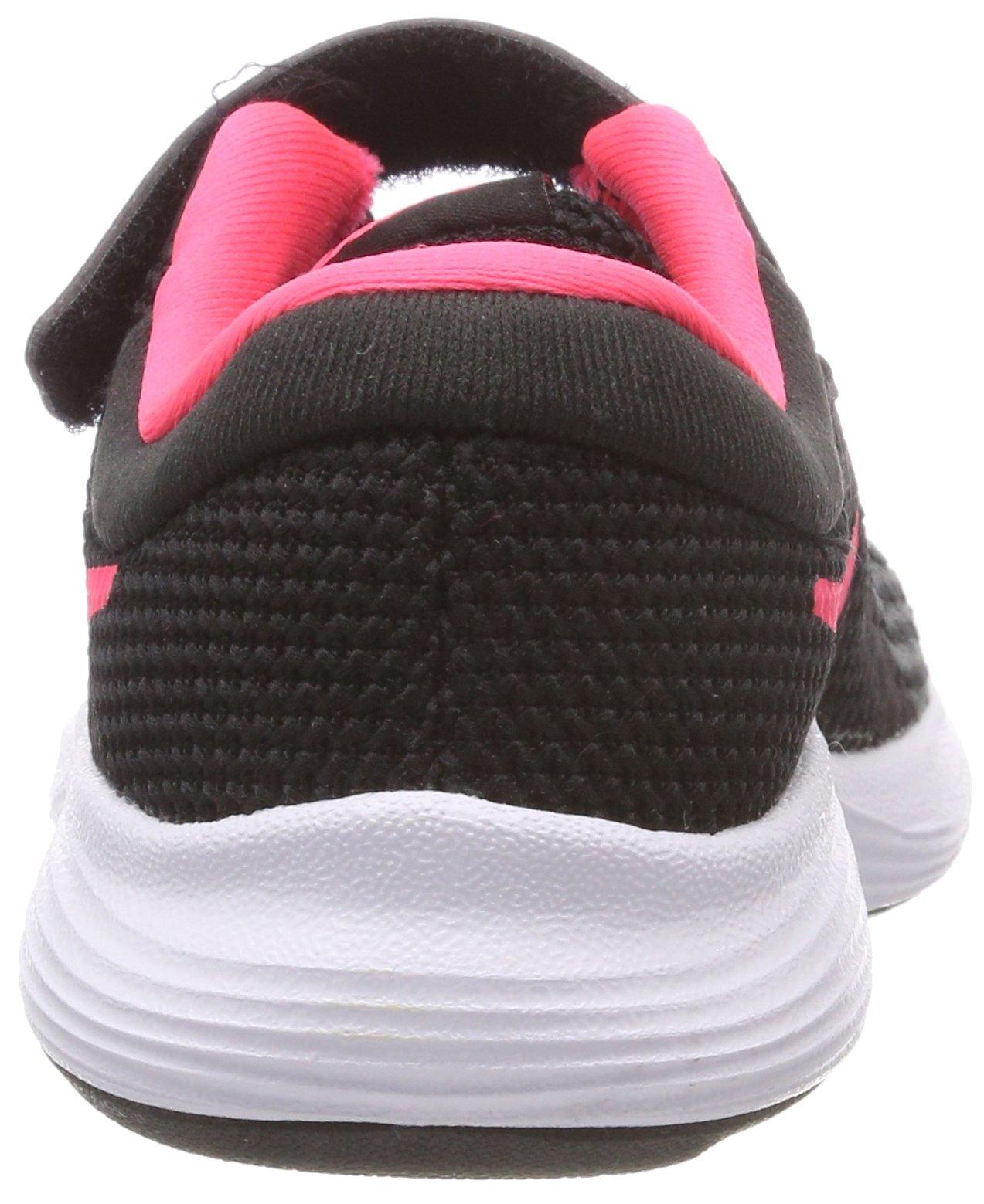 Nike Girls' Revolution 4 (PSV) Running Shoe, Black/Racer Pink - White, 11.5C Regular US Little Kid by Nike (Image #2)
