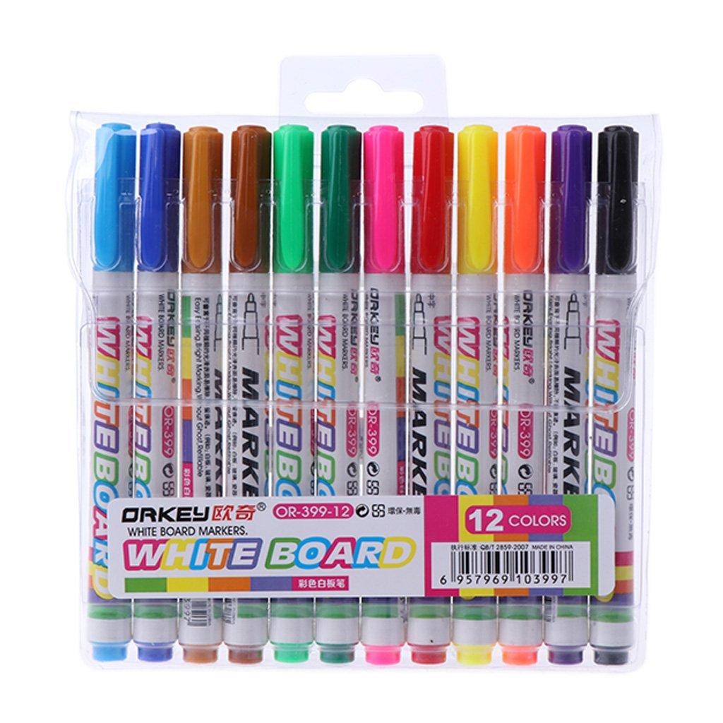 Longsw Whiteboard Marker 12 Farben Whiteboard Marker Nicht Giftig ...