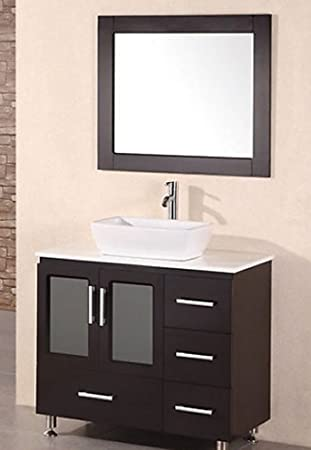Genial Design Element Stanton Single Vessel Sink Vanity Set With Espresso Finish,  36 Inch