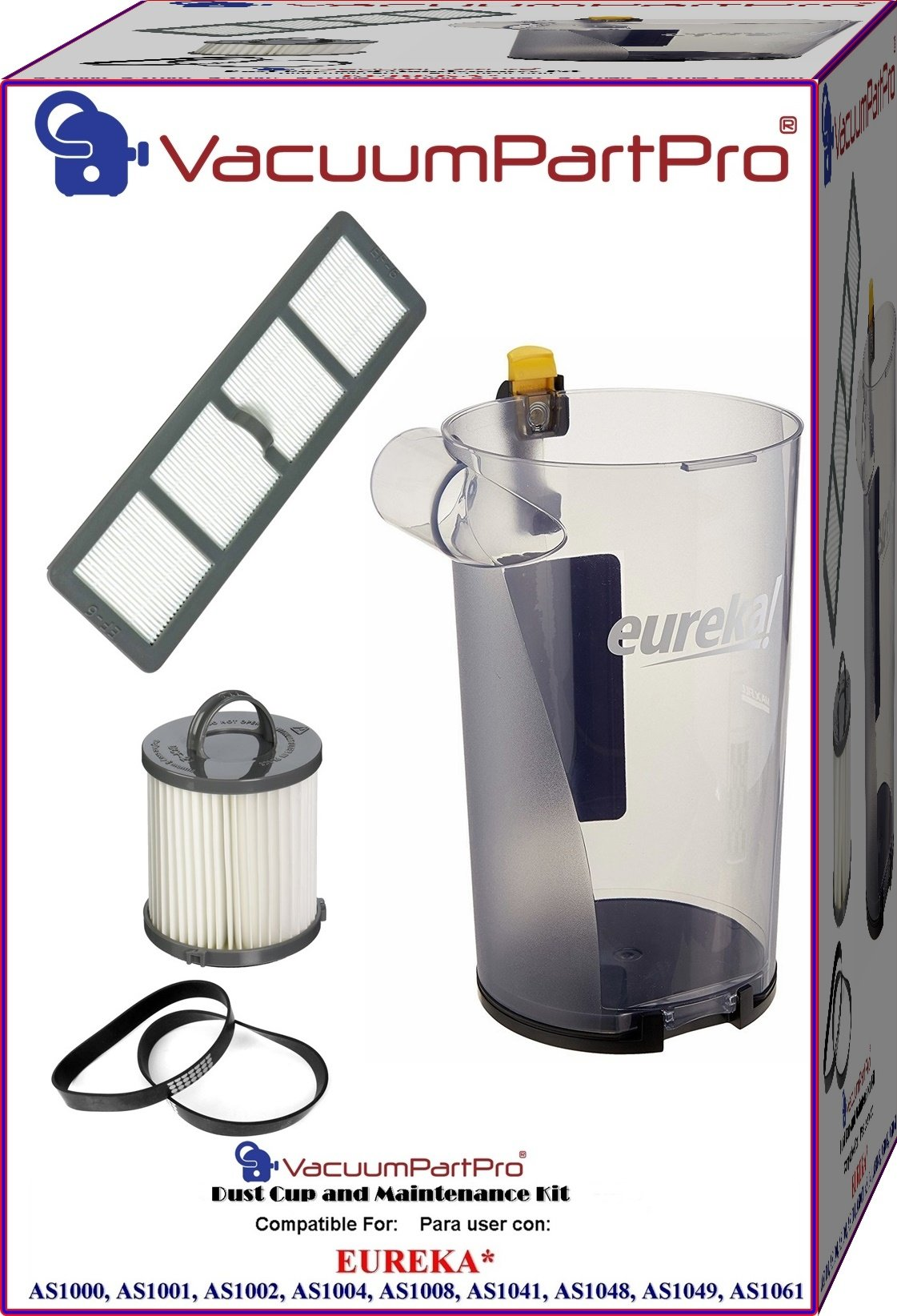 Eureka AirSpeed AS1000, AS1001, AS1002, AS1004, AS1008, AS1041, AS1048, AS1049, AS1061 Dust Cup and Maintenance Kit By Vacuum Part Pro